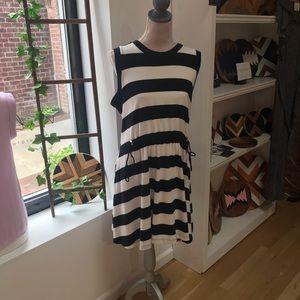 Kate Spade ♠️ XL Black/White Stripe Dress